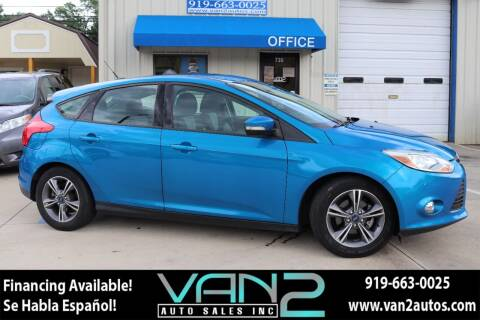 2014 Ford Focus for sale at Van 2 Auto Sales Inc in Siler City NC