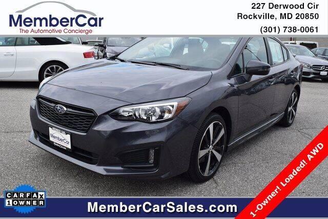 2018 Subaru Impreza for sale at MemberCar in Rockville MD