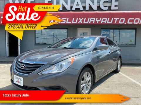2013 Hyundai Sonata for sale at Texas Luxury Auto in Cedar Hill TX