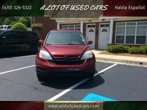 2010 Honda CR-V for sale at A LOT OF USED CARS in Suwanee GA