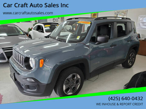 2017 Jeep Renegade for sale at Car Craft Auto Sales Inc in Lynnwood WA