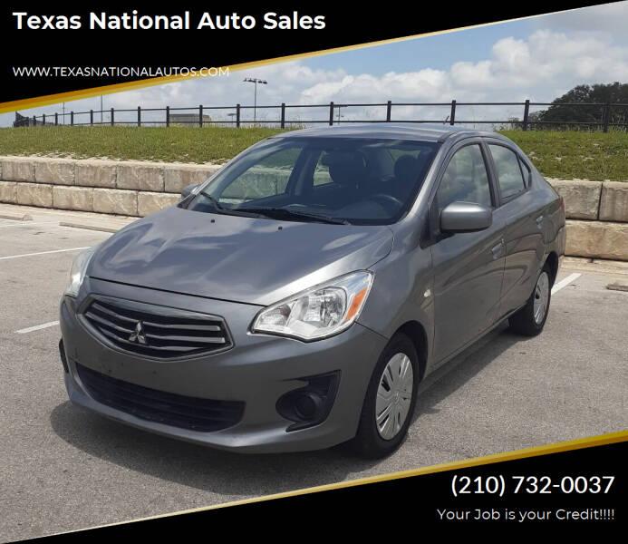 2017 Mitsubishi Mirage G4 for sale at Texas National Auto Sales in San Antonio TX