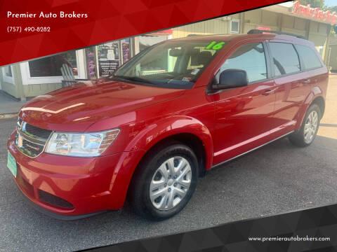 2016 Dodge Journey for sale at Premier Auto Brokers in Virginia Beach VA