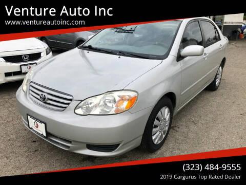2004 Toyota Corolla for sale at Venture Auto Inc in South Gate CA
