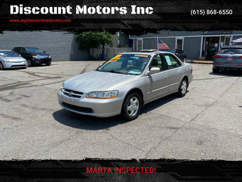 1999 Honda Accord for sale at Discount Motors Inc in Madison TN