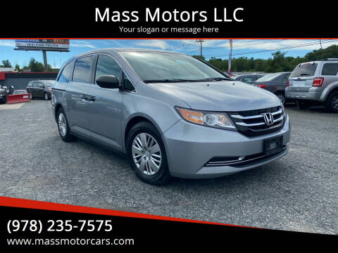 2016 Honda Odyssey for sale at Mass Motors LLC in Worcester MA