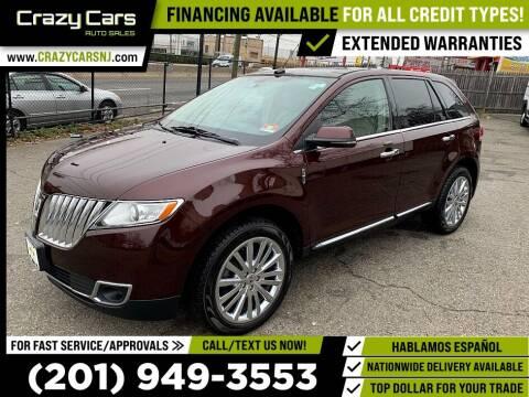2012 Lincoln MKX for sale at Crazy Cars Auto Sale in Jersey City NJ