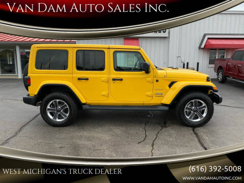 2020 Jeep Wrangler Unlimited for sale at Van Dam Auto Sales Inc. in Holland MI