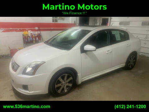 2012 Nissan Sentra for sale at Martino Motors in Pittsburgh PA