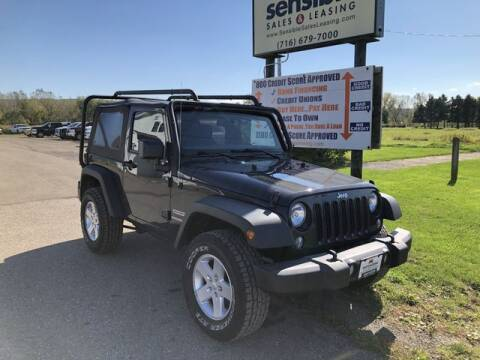 2017 Jeep Wrangler for sale at Sensible Sales & Leasing in Fredonia NY