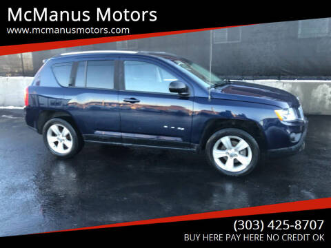 2012 Jeep Compass for sale at McManus Motors in Wheat Ridge CO