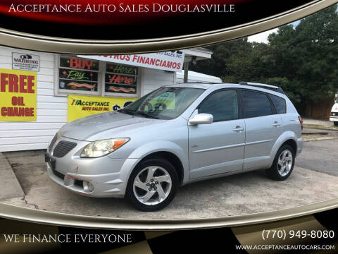 2005 Pontiac Vibe for sale at Acceptance Auto Sales Douglasville in Douglasville GA