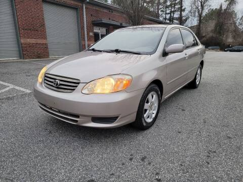 2003 Toyota Corolla for sale at MJ AUTO BROKER in Alpharetta GA