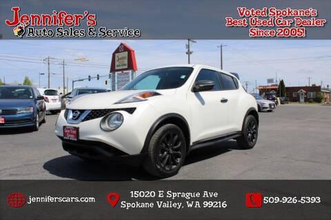 2016 Nissan JUKE for sale at Jennifer's Auto Sales in Spokane Valley WA