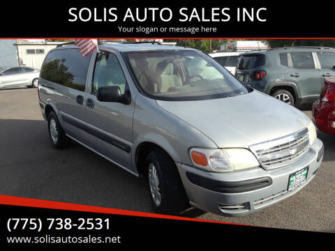 2001 Chevrolet Venture for sale at SOLIS AUTO SALES INC in Elko NV