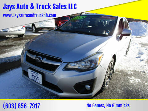2014 Subaru Impreza for sale at Jays Auto & Truck Sales LLC in Loudon NH