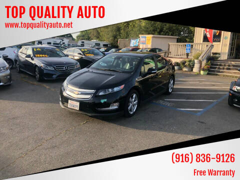 2013 Chevrolet Volt for sale at TOP QUALITY AUTO in Rancho Cordova CA