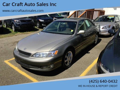 2001 Lexus ES 300 for sale at Car Craft Auto Sales Inc in Lynnwood WA
