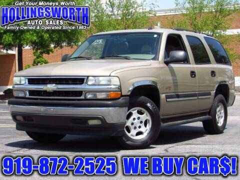 2005 Chevrolet Tahoe for sale at Hollingsworth Auto Sales in Raleigh NC