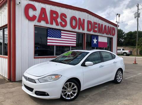 2013 Dodge Dart for sale at Cars On Demand 2 in Pasadena TX