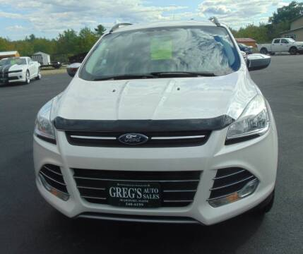 2015 Ford Escape for sale at Greg's Auto Sales in Searsport ME