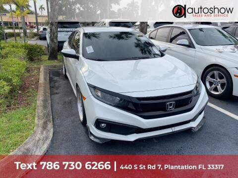 2019 Honda Civic for sale at AUTOSHOW SALES & SERVICE in Plantation FL