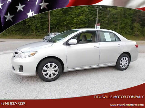 2011 Toyota Corolla for sale at Titusville Motor Company in Titusville PA