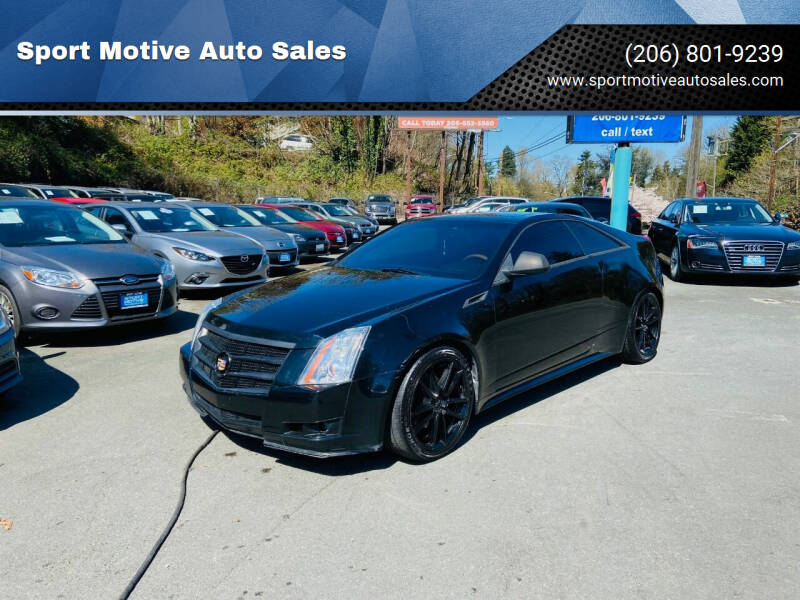 2011 Cadillac CTS for sale at Sport Motive Auto Sales in Seattle WA