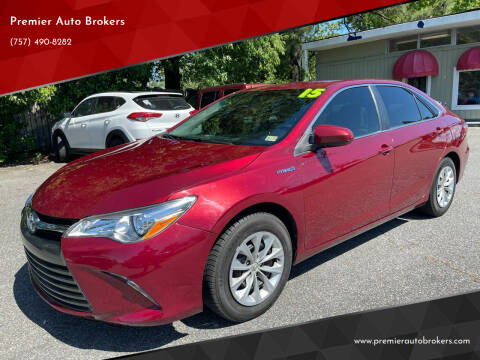 2015 Toyota Camry Hybrid for sale at Premier Auto Brokers in Virginia Beach VA
