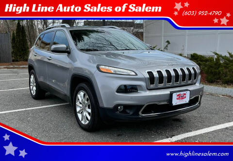 2016 Jeep Cherokee for sale at High Line Auto Sales of Salem in Salem NH