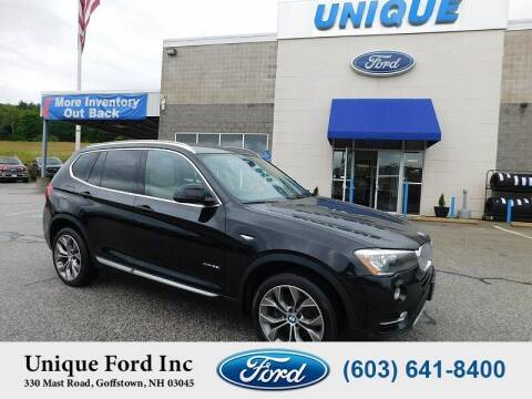 2017 BMW X3 for sale at Unique Motors of Chicopee - Unique Ford in Goffstown NH