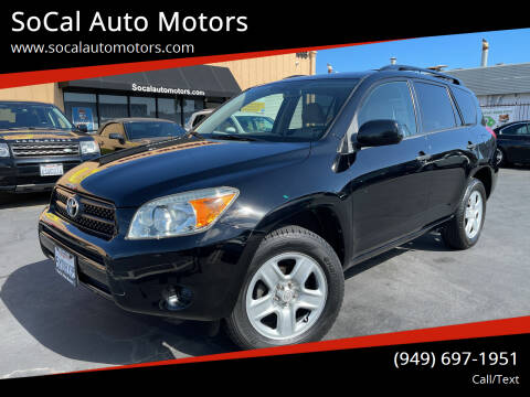 2007 Toyota RAV4 for sale at SoCal Auto Motors in Costa Mesa CA
