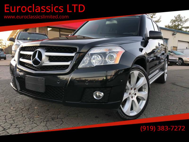 2010 Mercedes-Benz GLK for sale at Euroclassics LTD in Durham NC