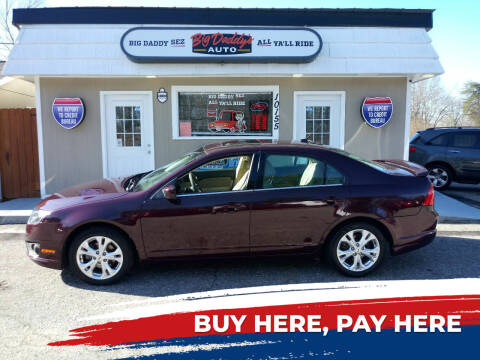 2012 Ford Fusion for sale at BIG DADDY'S  A.L.D. in Winston Salem NC