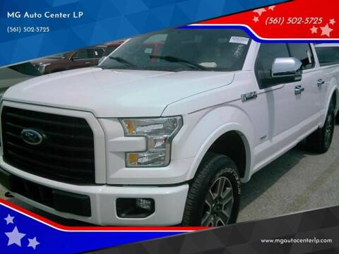 2015 Ford F-150 for sale at MG Auto Center LP in Lake Park FL