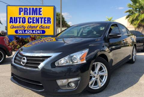 2013 Nissan Altima for sale at PRIME AUTO CENTER in Palm Springs FL