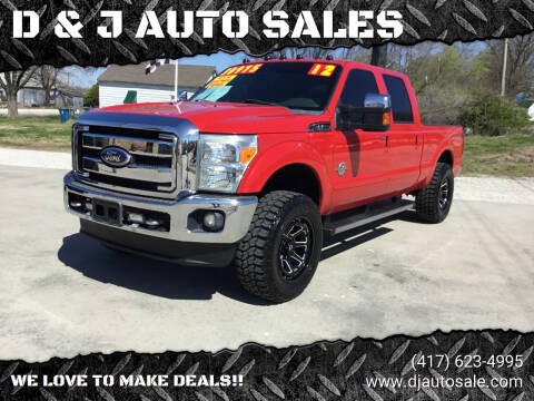 2012 Ford F-250 Super Duty for sale at D & J AUTO SALES in Joplin MO