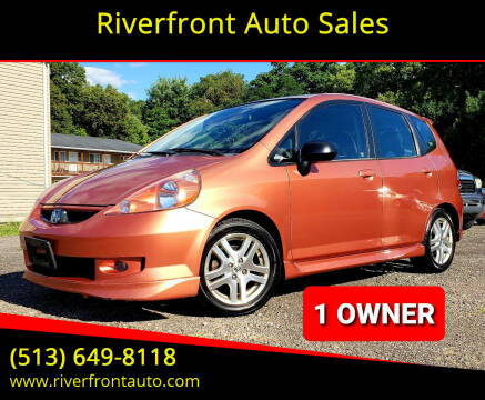2007 Honda Fit for sale at Riverfront Auto Sales in Middletown OH