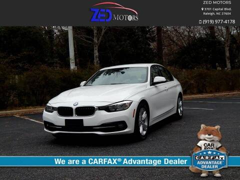 2016 BMW 3 Series for sale at Zed Motors in Raleigh NC