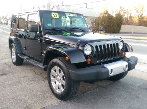 2013 Jeep Wrangler Unlimited for sale at Porcelli Auto Sales in West Warwick RI