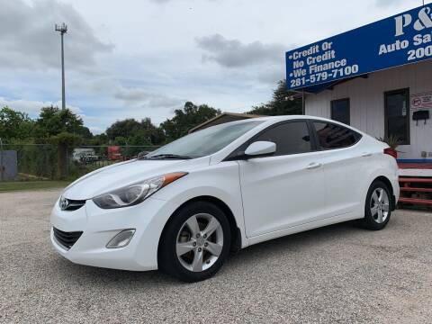 2013 Hyundai Elantra for sale at P & A AUTO SALES in Houston TX