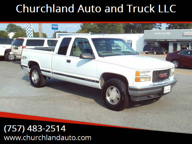 1998 GMC Sierra 1500 for sale at Churchland Auto and Truck LLC in Portsmouth VA