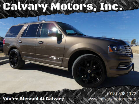 2015 Lincoln Navigator for sale at Calvary Motors, Inc. in Bixby OK