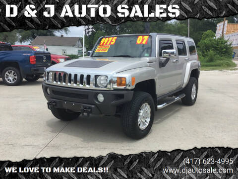 2007 HUMMER H3 for sale at D & J AUTO SALES in Joplin MO