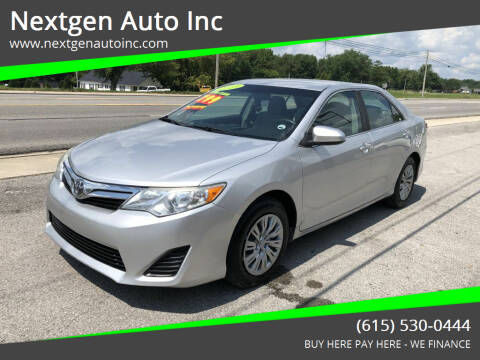 2013 Toyota Camry for sale at Nextgen Auto Inc in Smithville TN