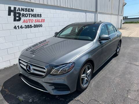 2017 Mercedes-Benz E-Class for sale at HANSEN BROTHERS AUTO SALES in Milwaukee WI