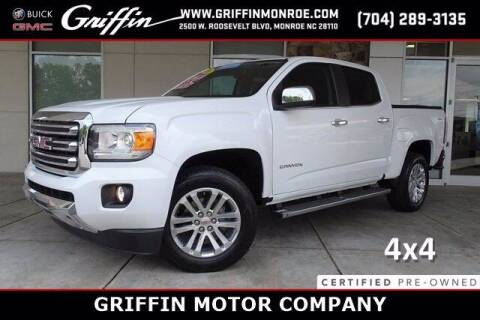 2018 GMC Canyon for sale at Griffin Buick GMC in Monroe NC