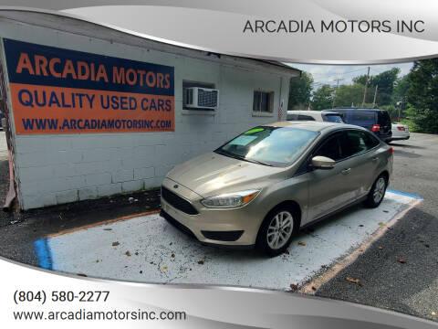 2015 Ford Focus for sale at ARCADIA MOTORS INC in Heathsville VA