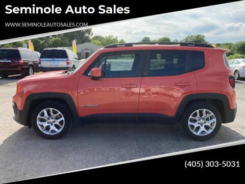 2015 Jeep Renegade for sale at Seminole Auto Sales in Seminole OK