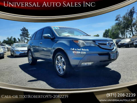 2008 Acura MDX for sale at Universal Auto Sales Inc in Salem OR